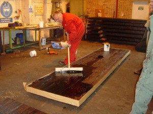 Glue and screw slab