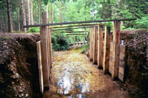 New Forest timber abutment