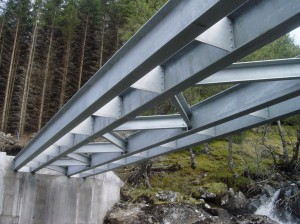 Road bridge steel