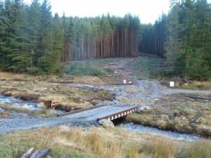 SLT access to harvesting site Glen Prosen