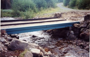 Temporary 44t bridge Wales